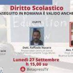 Diritto Scolastico: il TFA conseguito in Romania è valido anche in Italia